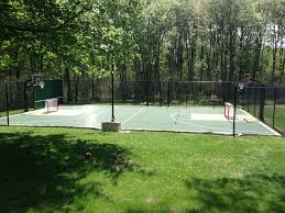 Backyard Basketball Court Backyard Basketball Court Landscape Traditional With Backyard