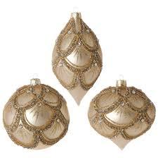 beaded ornaments raz golden botanical
