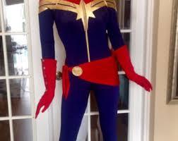Captain Marvel Halloween Costume Captain Marvel Superhero Costume Cosplaycustom