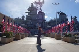 Misouri Flag Right Place Right Time Visiting The Uss Missouri U2013 The Travelphile