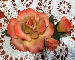 capodimonte roses capodimonte flower etsy