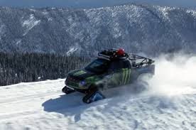 Ford Raptor Snow Truck - video ken block shreds the snow in his 2014 ford raptortrax truck