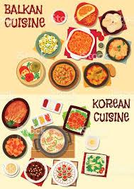 jeux de cuisine libre jeu dicônes de dîner une cuisine coréenne et des balkans cliparts