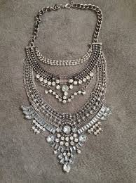 boho statement necklace images Jewels siilver big necklace necklace statement boho necklace jpg