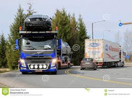 new volvo truck 2015 volvo fm car carrier hauls new cars editorial stock photo image