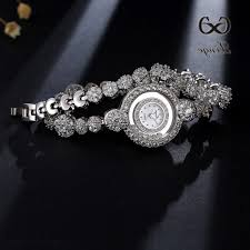 charm bracelet watches images Xinge brand women luxury zircon diamond watches charm bracelet jpg