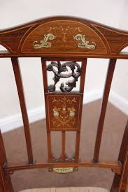 Edwardian Bedroom Furniture by Edwardian Inlaid Rosewood Bedroom Chair Raised On Spade Foot