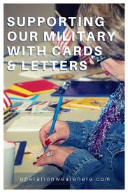 cards and letters for military