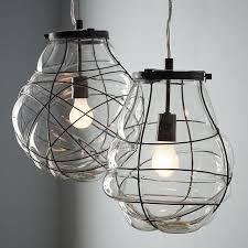 Blown Glass Pendant Lights Lighting Organic Blown Glass Pendant West Elm Organic