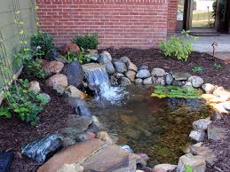 Backyard Waterfall Backyard Waterfall With Pond Minnesota Waterfeatures Http Www