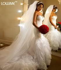 mermaid trumpet wedding dress aliexpress buy vestido de noiva mermaid trumpet wedding