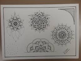 line and dot work mandala tattoo flash tattoo design drawing