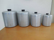 vintage kitchen canister retro canisters ebay