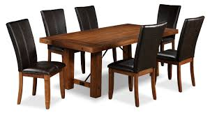 helix 7 piece dining room set oak leon u0027s