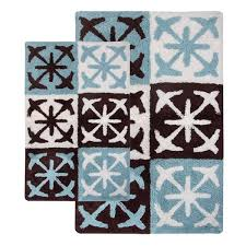 Nautical Bath Rug Sets Nautical Block 2 Bath Rug Set With Step Out Mat Free