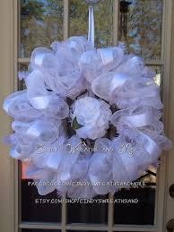 White Deco Mesh 34 Best Wedding Mesh Wreaths Images On Pinterest Wedding Wreaths
