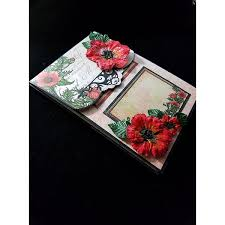 Poppy Home Decor Pre Made Scrapbook Album Poppies 45 Liked On Polyvore