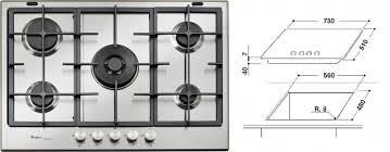whirpool piani cottura piano cottura whirlpool gmf7522ixl 75cm piani cottura