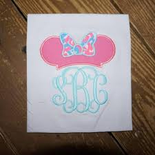 minnie mouse hat with bow design applique frame file for