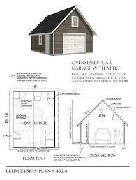 24 x 24 garage plans 1 car attic garage plan 432 4 18 x24 by behm designbehm garage plans
