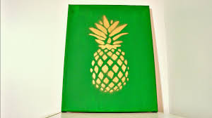 Pineapple Home Decor by Diy Wall Decor Pineapple Painting Youtube