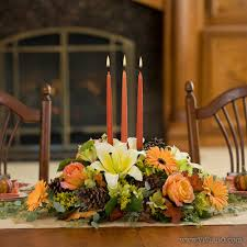 vintage thanksgiving and low floral centerpiece with