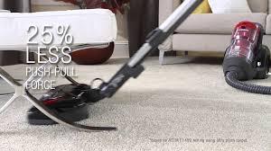 panasonic plush pro bagless canister vacuum mc cl945 youtube