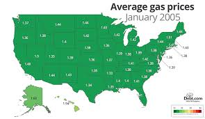 average gas price interactive map of gas prices over time debt com