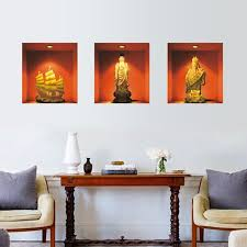 Chinese Style Home Decor 3d Chinese Style God Of Wealth Bodhisattva Sailing Ship Wall