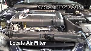 2002 hyundai elantra size 2001 2006 hyundai elantra engine air filter check 2002 hyundai