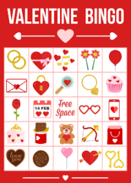 valentines bingo printable s day bingo party printables