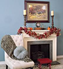 thanksgiving mantel pork tenderloin in raspberry chipotle sauce and fall mantel decor