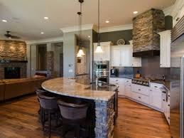 open kitchen island transitional open kitchen living room with island kitchen with