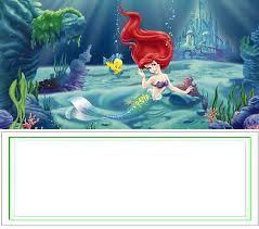 mermaid free printable invitation templates