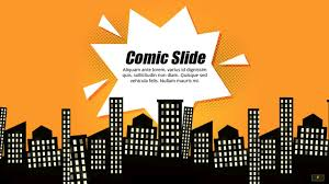 cool themes for google slides comic book powerpoint template google slides theme