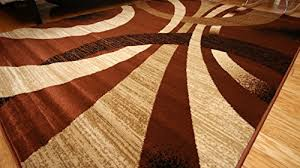 Black And Brown Area Rugs Feraghan New City Contemporary Black Modern Wavy Circles Wool Area