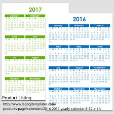 printable calendar 2016 time and date 2016 2017 yearly calendar 8 1 2 x 11 legacy templates