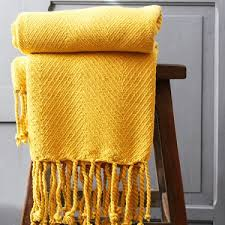jeté de canapé jaune jeté de canapé en coton indien déco originale par pankaj e boutique