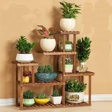 etagere legno fiore di legno scaffali cremagliera casa decor garden 6 tier