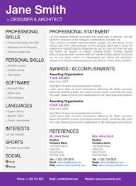creative resumes templates professional resume template word