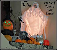 spooky tree halloween decor crafty in crosby easy diy tomato cage ghost