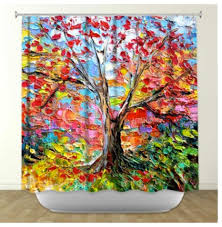 Bright Shower Curtain Artistic Shower Curtain Inner Circle Bubbles By Artfullyfeathered