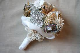 diy bridal bouquet diy brooch wedding bouquet made of vintage family brooches and pearls