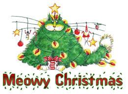 meowy christmas christmas humor wishing you a meowy christmas