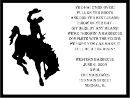 Cowboy Christmas Party Invitations - western bbq party invitations