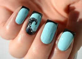 nail art fascinating blue nailt pictures concept light nails with