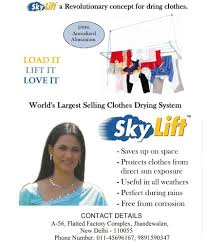 Clothes Dryer Stand Online Skylift Blue Aluminium Ceiling Mounted Cloth Stand Buy Skylift