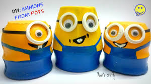 diy minion craft simple and easy from small pot for kids