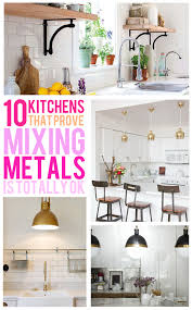Mixing Metals In Bathroom Mixed Metals In The Kitchen Glitter And Goat Cheese Glitter