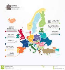 map of europe free europe map infographic template jigsaw concept banner vector